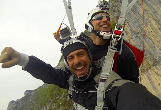 Tandem Base Jump - Lanciati.it